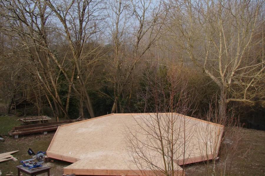 Zome 7 rentrant en Gironde hiver 2011.