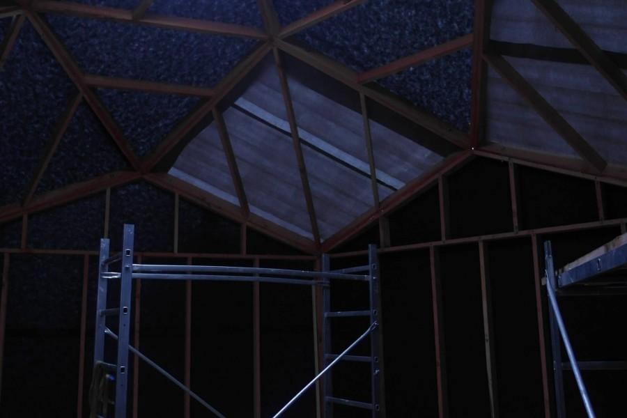 La construction d'un zome 6 livré en kit automne 2011.